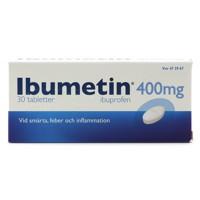 Ibumetin, 400 mg, 30 tabletter.